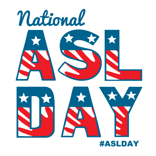 The logo for National ASL Day.